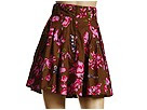 French Connection - Fairytale Flower Skirt (Bullfrog Green/Pink) - Apparel