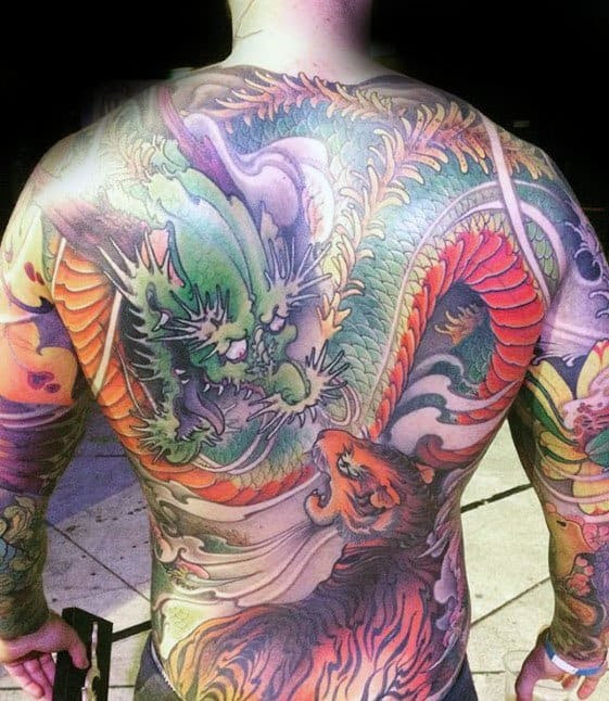40 Tiger Dragon Tattoo Designs For Men Manly Ink Ideas