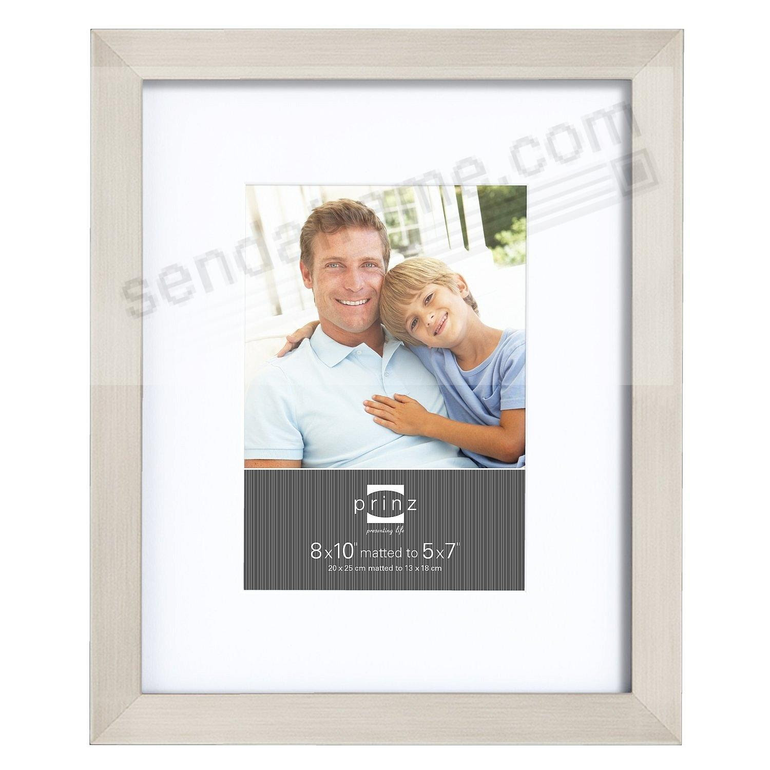 Gallery Expressions Nickel 8x105x7 Frame Wwhite Mat By Prinz