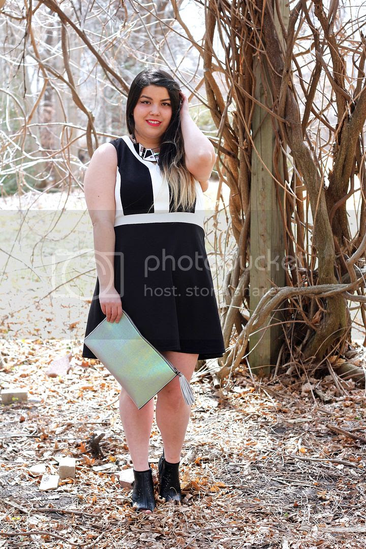 Suzy Shier+ Plus plus size fashion a line dress ribbed color block canada plus size