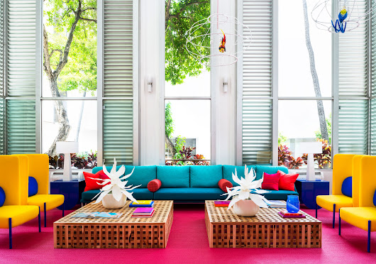Shoreline Hotel Waikiki: a Lesson in Mixing Bold Colors Without Clashing | Architectural Digest