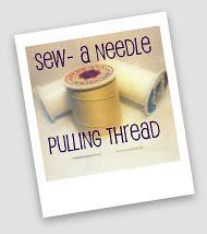 A needle pulling thread3