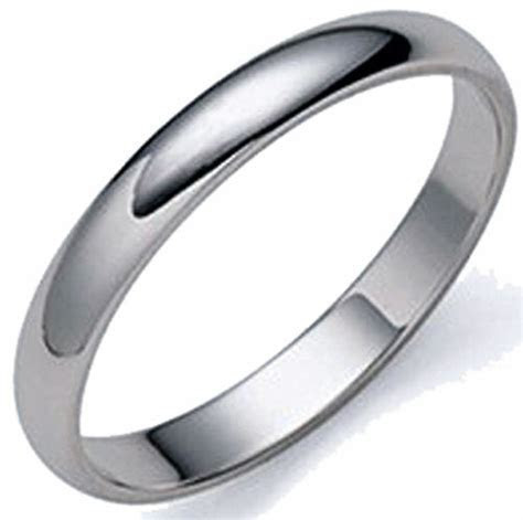 SAVE $392.  MEN'S DOMED PLATINUM 3MM WEDDING BAND RING   eBay