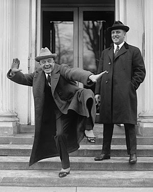 Billy Sunday (1862-1935) (left) at the White H...