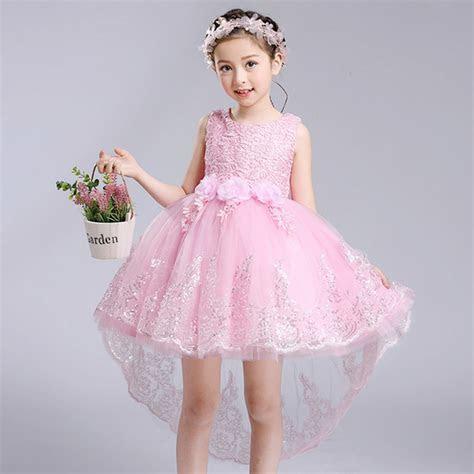 2017 summer new Girls Flower Dresses wedding dress Kids