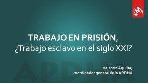 Portada de la presentación de la charla deValentín Aguilar