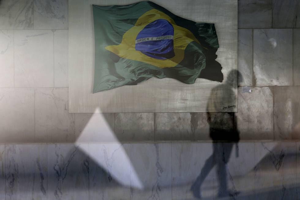Vista de um dos corredores do Palácio do Planalto