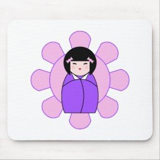 Purple Kokeshi Doll mousepad