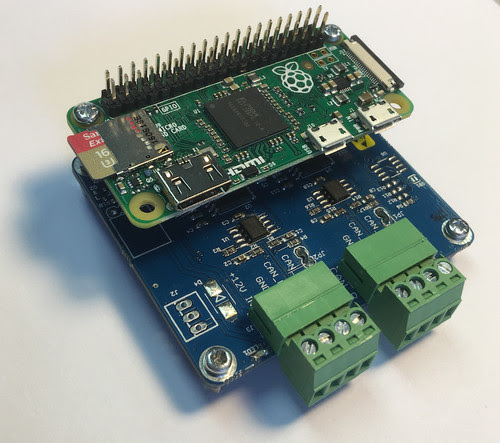 Raspberry Pi Zero System With Dual CAN Bus Interface