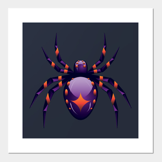 Cartoon Purple Spider by annartshock