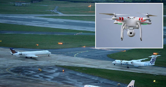 Pilot spotted drone just 50 FEET from passenger aircraft in Manchester Airport near miss