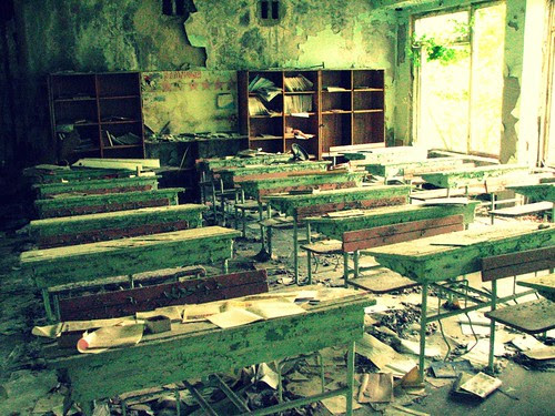 Abandoned school in Pripyat' / Chernobyl