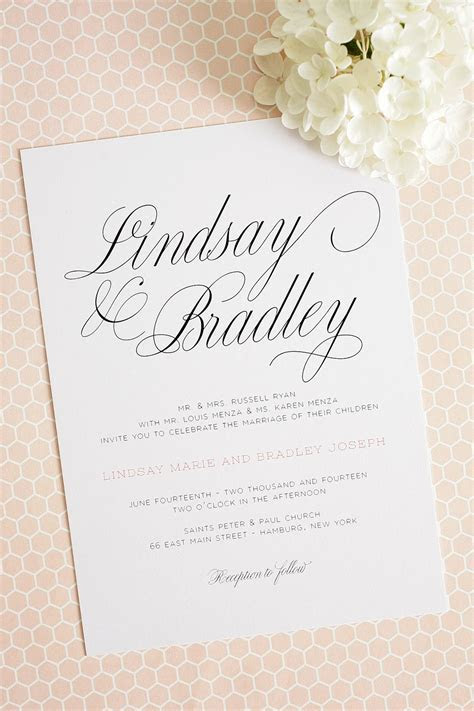 Large Script Wedding Invitations   THE PERFECT PALETTE PRO