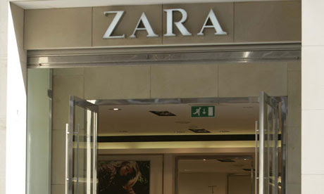 Zara womenswear fashion shop,Glasgow, Scotland,