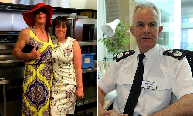 Greater Manchester Police Chief Constable Sir Peter Fahy stunned fellow senior officers by strutting down a catwalk and putting on his best pout at a fashion show to raise money for The Christie cancer hospital.
