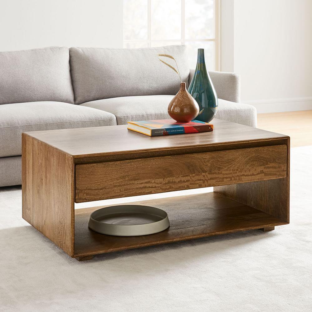 Anton Solid Wood Storage Coffee Table   west elm United ...