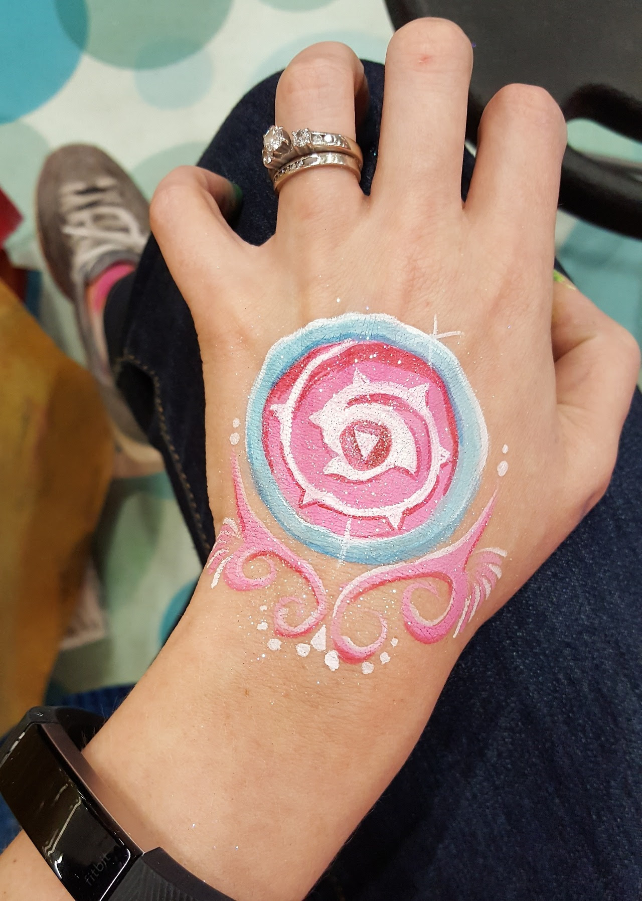 downtime at the face painting booth~