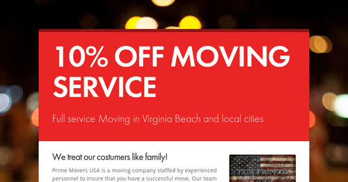 10% OFF MOVING SERVICE