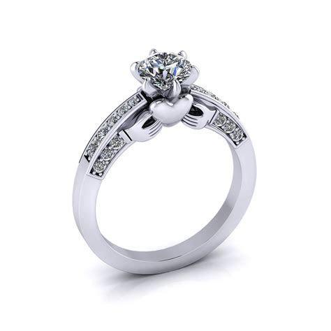 Claddagh Diamond Engagement Ring   Jewelry Designs