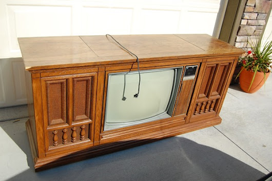 1960s TV Console Makeover