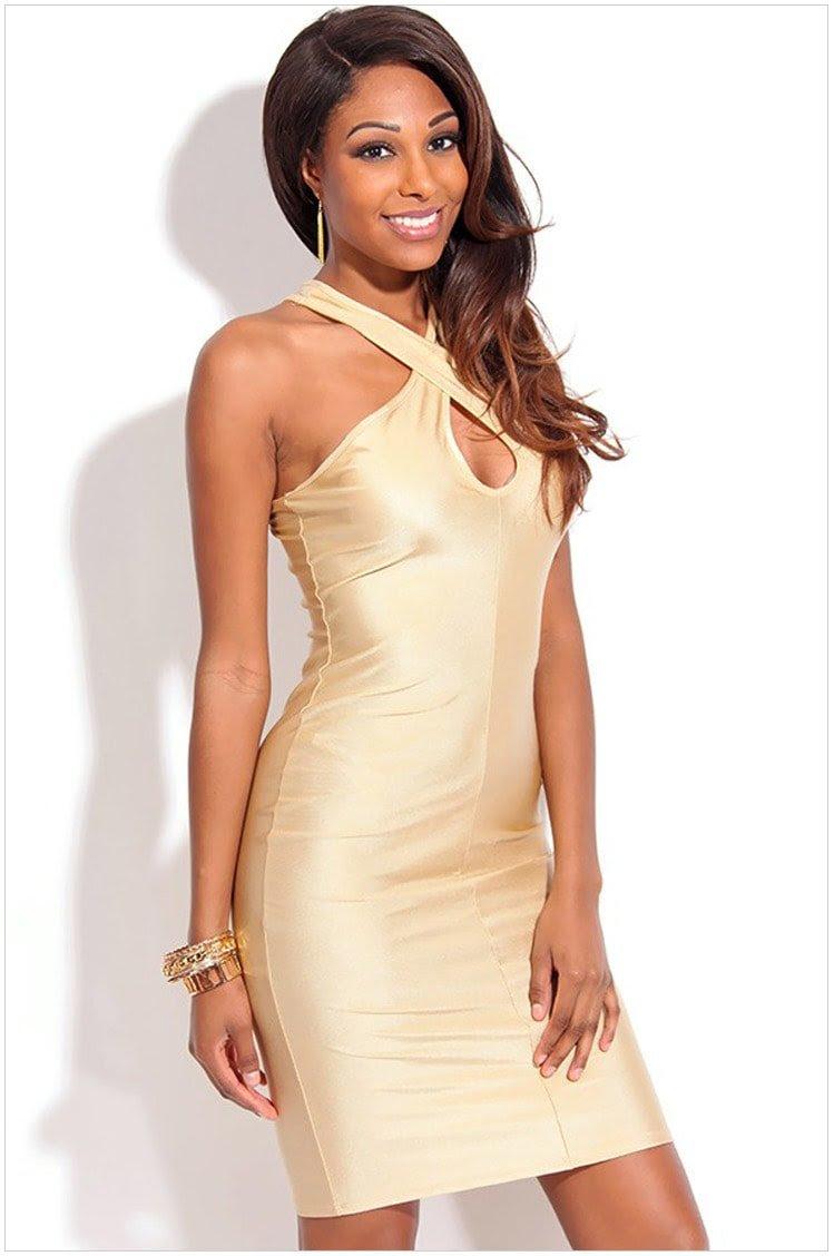 off shoulder women champagne club party dresses  online