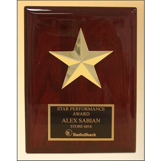 Star Casting Plaque on Rosewood Finish