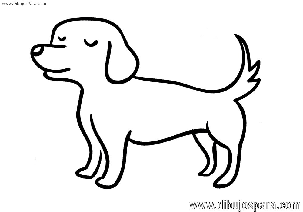 Dibujo De Perro Fácil Para Colorear Dibujos Para Colorear