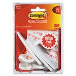 General Purpose Hooks Value Pack, Large, 5lb Cap, White, 3 Hooks & 6 S