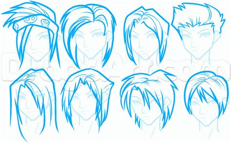 draw anime hair  beginners step  step anime