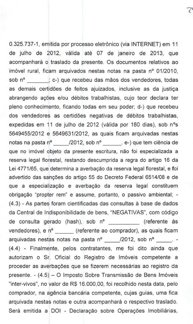 Minuta de contrato de venda do sítio em Atibaia para Lula pag.5 (Foto: Reprodução)