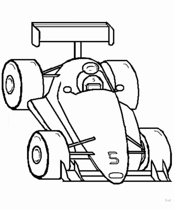 Race Car Outline ClipArt Best