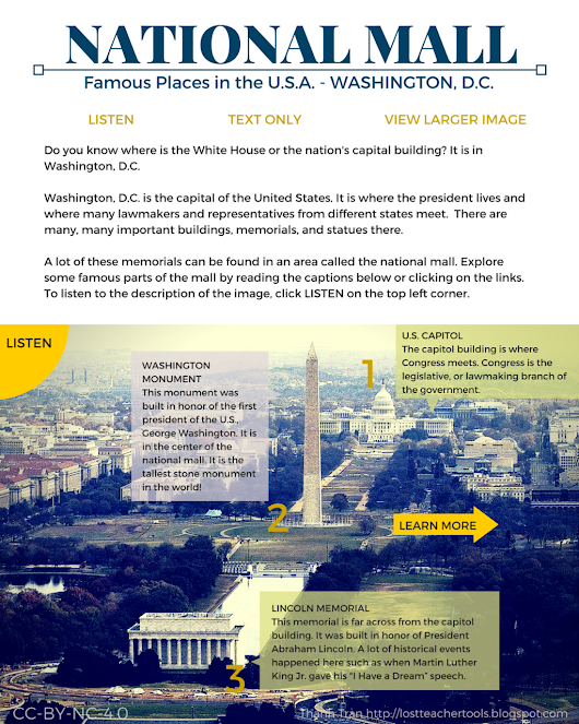 Applying UDL Principles - National Mall Graphic