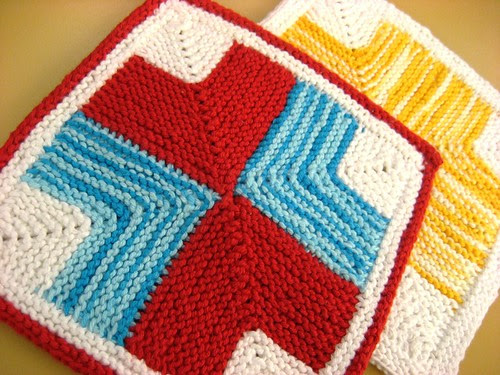 Mitered Cross Washcloth