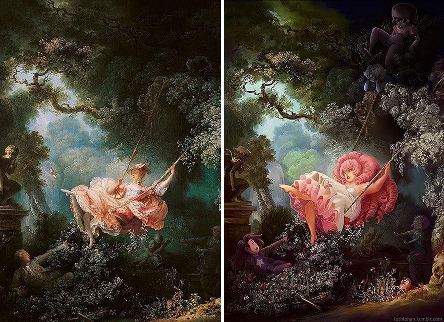 """The Swing"" By Jean-Honore Fragonard"