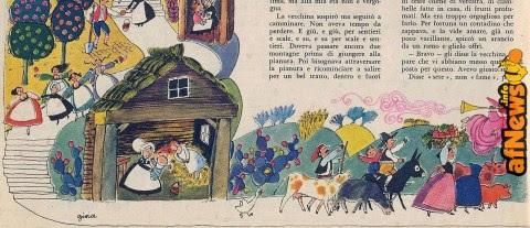 La vecchina del presepio, fiaba natalizia illustrata di Gianni Rodari