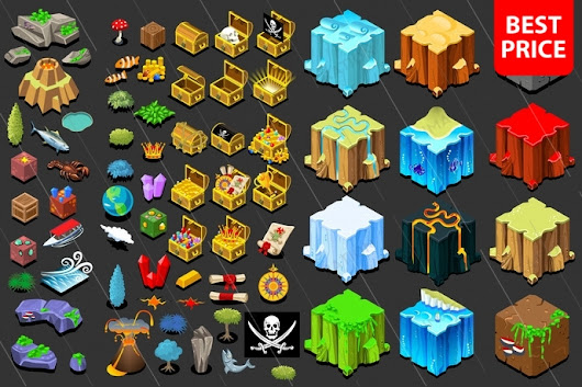 Treasure icons for fantasy isometric game