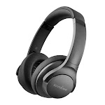 Soundcore Life 2 Active Noise Cancelling Over-Ear Wireless Headphones, Hi-Res Audio, 30-Hour Playtime, BassUp Technology, Memory-Foam Ear Cushions