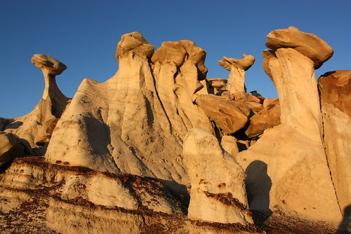 Hoodoos at sunrise, Bisti Wilderness