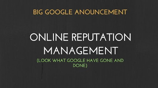 Online Reputation Management - Are you aware of your business rep?