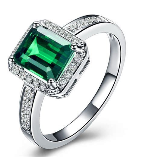 Classic 1.50 Carat Emerald and Diamond Engagement Ring in