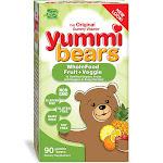 Yummi Bears Wholefood and Antioxidants Gummy Vitamin Supplement for Kids, 90 Gummy Bears