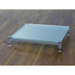 VTI BLG404SSF-01 BLG Series AMP Stand (Silver Cap Silver Pole Frosted Glass)