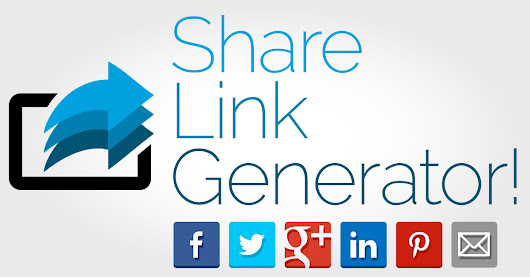 Share Link Generator: Facebook, Twitter, Google Plus, LinkedIn, Pinterest, and Email