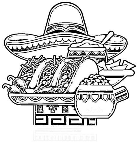 Dibujo De Comida Típica Mejicana Para Colorear Dibujos Para