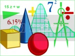 Proferichardperez' drawing with several images representing different areas of mathematics