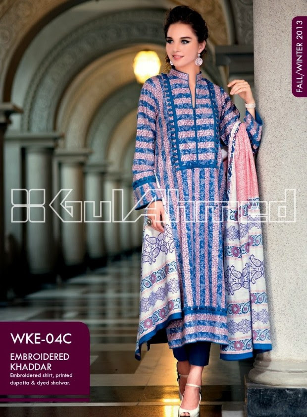 Beautiful-Cute-Girls-New-Fashionable-Dress-Design-by-Gul-Ahmed-Fall-Winter-Collection-2013-14-5