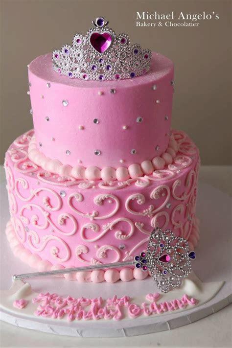 pink princess cake love this too!   crown cake