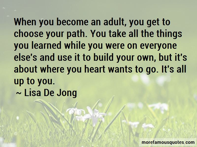 Choose Your Path Quotes Top 39 Quotes About Choose Your Path From