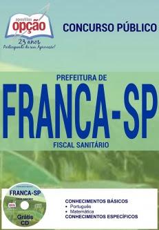 Prefeitura de Franca / SP-FISCAL SANITÁRIO-FISCAL DE OBRAS E POSTURAS-AGENTE DE APOIO ADM - PPI/VS