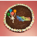 Happy Birthday Brownie Cookie Cake - Freshly baked; rich, fudgy and delicious - Perfect Birthday Gift | 1-800-Bakery.com